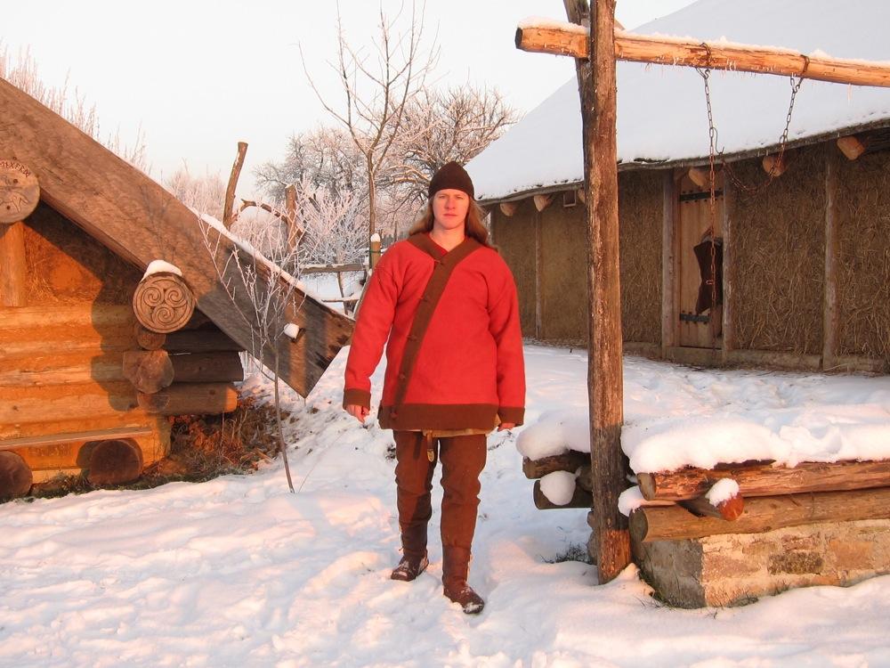 Winterfoto im Wikingerhof Ulvengard